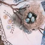 """Three Blue Eggs"" by awsartist99"