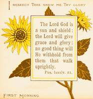 First Morning, from 1890 book Bible Sunflowers