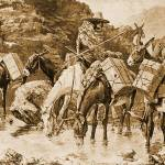 """Mule Train Crossing the Sierras (1888)"" by ArtLoversOnline"