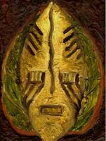 African Mask Series Leaf