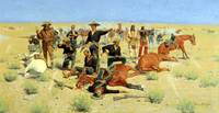 Rounded-Up (1901) by Frederick Remington