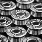"""Forty-Five Caliber Automatic Ammunition (B&W)"" by garystaffordphoto"