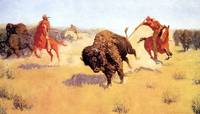The Buffalo Runners (1905) by Frederick Remington