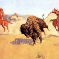 """The Buffalo Runners  by Frederick Remington"" by ArtLoversOnline"