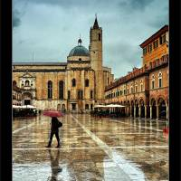 Walking in the Rain Art Prints & Posters by Davide Cherubini