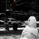 """Snowman On 6th Avenue, New York City"" by danpatrick"