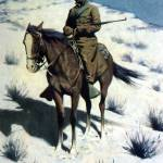 """The Cossack Post, Cavalryman (1902) by Remington"" by ArtLoversOnline"