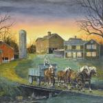 """Four Horse Hitch"" by Rivertown"