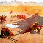 """The Fight for the Water Hole (1903) by Remington"" by ArtLoversOnline"