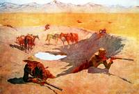 The Fight for the Water Hole (1903) by Remington