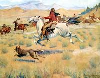 The Gathering of the Trappers (1904) by Remington