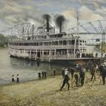 """Steamboat on the Mississippi Landing"" by Rivertown"