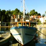 """Docked fishing boat"" by Croatia"