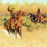 """The Longhorn Cattle Sign (1911) by Remington"" by ArtLoversOnline"
