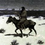 """The Luckless Hunter (1909) by Frederick Remington"" by ArtLoversOnline"