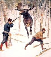 The Moose Hunt (c.1890) by Frederick Remington