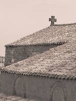 Chapel roof at Carcassonne