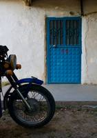 Blue Door And Bike