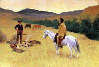 The Parley (1903) by Frederick Remington