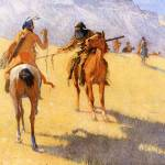 """The Parley (1906) by Frederick Remington"" by ArtLoversOnline"