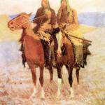 """""""The Scouts (1908) by Frederick Remington"""" by ArtLoversOnline"""
