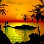 """Island Sunset"" by oilnwine"