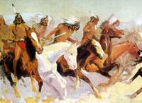 White Otter Led the Charge (1906) by Remington