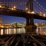"""Manhattan and Brooklyn Bridges"" by shep"