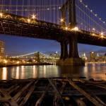 """Manhattan and Brooklyn Bridges"" by shep"