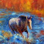 """Horse Running through River"" by deewright"