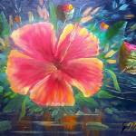 """Tropical Hibiscus Flower Art"" by mazz"
