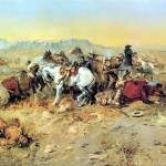"""A Desperate Stand (1898) by Charles Russell"" by ArtLoversOnline"