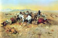 A Desperate Stand (1898) by Charles Russell