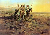 Approach of White Men (1897) by Charles Russell