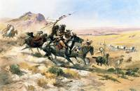 Attack on a Wagon Train (1902) by Charles Russell