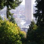 """""""View of downtown Portland from Portland, Oregon ro"""" by serenethos"""