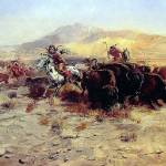 """Buffalo Hunt by Charles Russell"" by ArtLoversOnline"