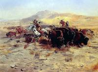 Buffalo Hunt by Charles Russell