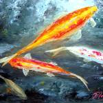 """Koi Fish Painting"" by mazz"