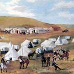 """Cowboy Camp During the Roundup (c. 1887)"" by ArtLoversOnline"