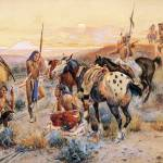 """First Wagon Trail (1908) by Charles Russell"" by ArtLoversOnline"