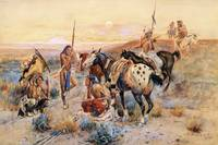 First Wagon Trail (1908) by Charles Russell