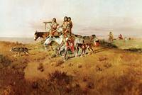 Following Buffalo Run (1894) by Charles Russell