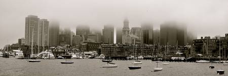 Fog Over Boston Harbor