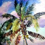 """Palm Tree Oil Painting"" by mazz"