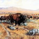 """Guardian of the Herd (1899) by Charles Russell"" by ArtLoversOnline"