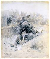 He Tripped into a Den of Mother Bear & Cubs (1910)