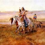 """Indians Crossing the Plains (1902) by Russell"" by ArtLoversOnline"