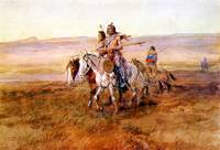 Indians Crossing the Plains (1902) by Russell