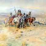 """Intercepted Wagon Train (1898) by Charles Russell"" by ArtLoversOnline"